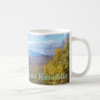 Mount Katahdin in fall 3 Classic White Coffee Mug