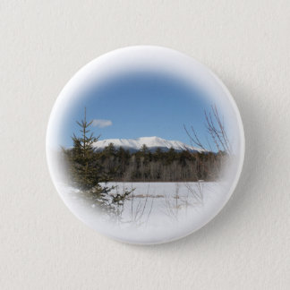 Mount Katahdin in winter Pinback Button
