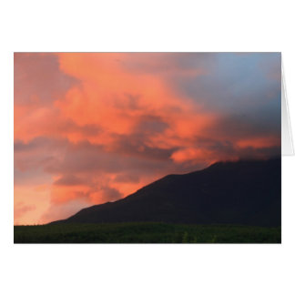 Mount Katahdin Maine Dramatic Sunset Card