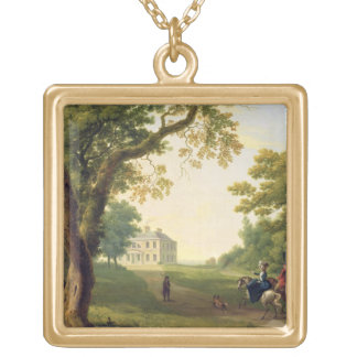 Mount Kennedy, County Wicklow, Ireland, 1785 (oil Gold Plated Necklace