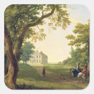 Mount Kennedy, County Wicklow, Ireland, 1785 (oil Square Sticker
