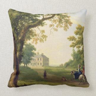 Mount Kennedy, County Wicklow, Ireland, 1785 (oil Throw Pillow