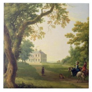 Mount Kennedy, County Wicklow, Ireland, 1785 (oil Tile