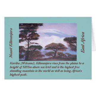 Mount Kilimanjaro Card