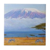 Mount Kilimanjaro Ceramic Tile