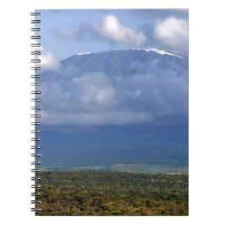 Mount Kilimanjaro Tanzania Landmark Landscapes Spiral Notebook