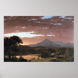Mount Ktaadn (Katahdin) by Frederic Edwin Church Poster