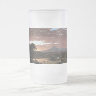 Mount Ktaadn (Katahdin) by Frederick Edwin Church Frosted Glass Beer Mug