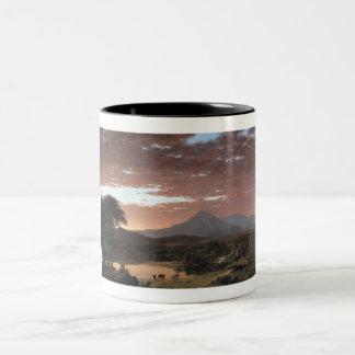 Mount Ktaadn (Katahdin) by Frederick Edwin Church Two-Tone Coffee Mug