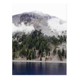 Mount Lassen Volcano in the clouds Postcard