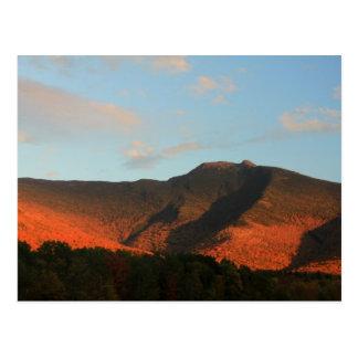 Mount Mansfield Autumn Glow Sunset Postcard