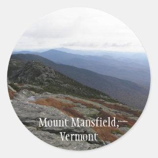 Mount Mansfield,Vermont Classic Round Sticker
