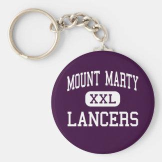 Mount Marty - Lancers - High - Cedar Rapids Iowa Basic Round Button Keychain