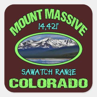 Mount Massive, Colorado Square Stickers