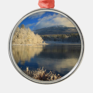 Mount Monadnock First Snow Christmas Tree Ornaments