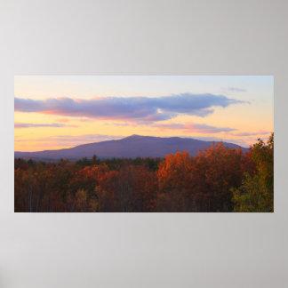 Mount Monadnock Late Autumn Sunset Poster