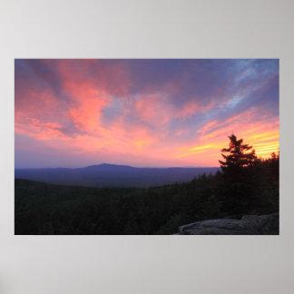 Mount Monadnock Sunset from North Pack Monadnock Poster