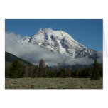 Mount Moran and Clouds at Grand Teton Card