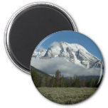 Mount Moran and Clouds at Grand Teton Magnet