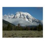Mount Moran and Clouds at Grand Teton Postcard