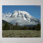 Mount Moran and Clouds at Grand Teton Poster