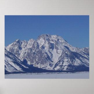 Mount Moran in February Poster