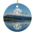 Mount Moran Reflection at Grand Teton Ceramic Ornament
