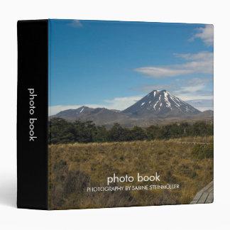 Mount Ngauruhoe Mount Tongariro Photo Book 3 Ring Binder