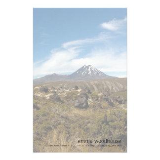 Mount Ngauruhoe Mount Tongariro Customized Stationery