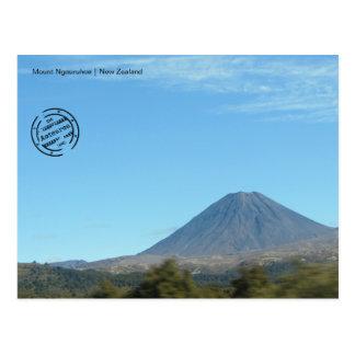 Mount Ngauruhoe (Nueva Zelanda tarjeta postal)