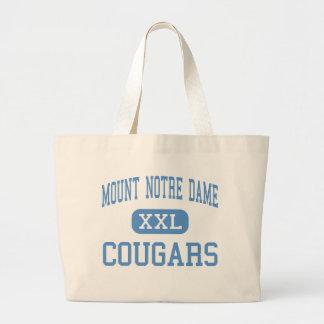 Mount Notre Dame - Cougars - High - Cincinnati Jumbo Tote Bag