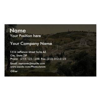 Mount of Olives and Gethsemane, general view, Jeru Business Card Templates