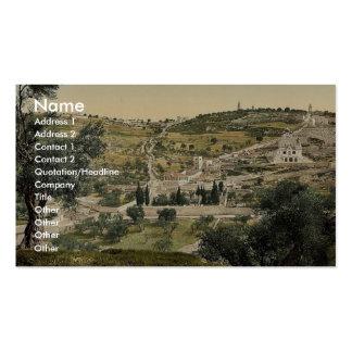 Mount of Olives and Gethsemane, general view, Jeru Business Cards