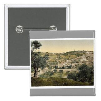 Mount of Olives and Gethsemane, general view, Jeru Buttons