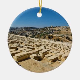 Mount of Olives Jewish Cemetery Jerusalem Israel Ceramic Ornament