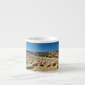Mount of Olives Jewish Cemetery Jerusalem Israel Espresso Cup