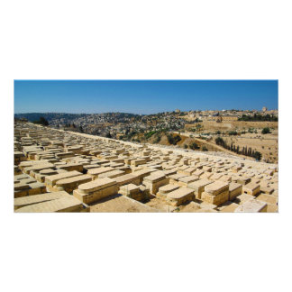 Mount of Olives Jewish Cemetery Jerusalem Israel Picture Card