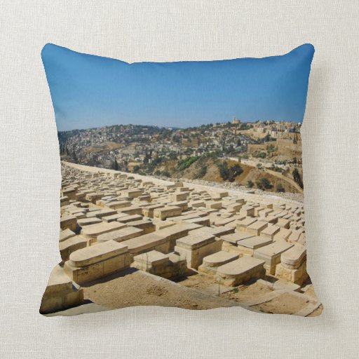 Mount of Olives Jewish Cemetery Jerusalem Israel Pillows
