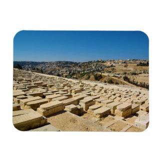 Mount of Olives Jewish Cemetery Jerusalem Israel Rectangular Photo Magnet