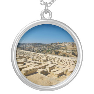 Mount of Olives Jewish Cemetery Jerusalem Israel Silver Plated Necklace
