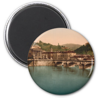 Mount of the Capuchins, Turin, Piedmont, Italy 2 Inch Round Magnet