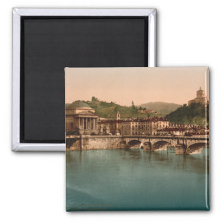 Mount of the Capuchins, Turin, Piedmont, Italy 2 Inch Square Magnet