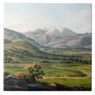 Mount Olympus, as seen between Larissa and Baba, p Ceramic Tile
