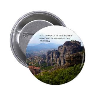 Mount Olympus Greece Monastery Aristotle Quote Pins