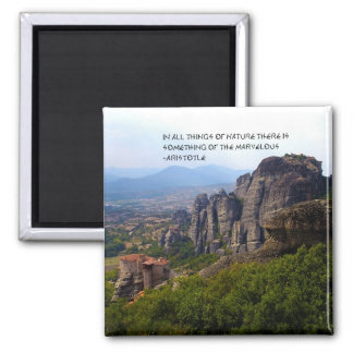 Mount Olympus Greece Monastery Aristotle Quote Refrigerator Magnets