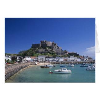 Mount Orgueil Castle and harbour, Gorey, Jersey Card