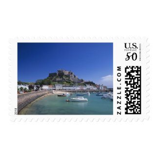 Mount Orgueil Castle and harbour, Gorey, Jersey Postage