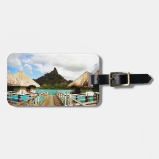 Mount Otemanu Luggage Tag