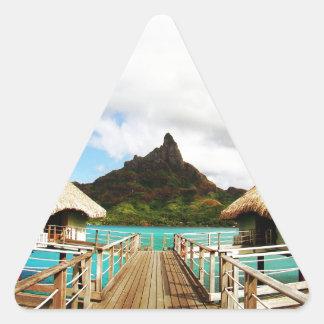 Mount Otemanu Triangle Sticker
