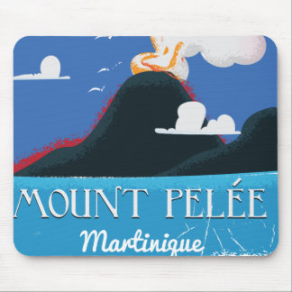 Mount Pelée, Martinique Vintage travel poster Mouse Pad
